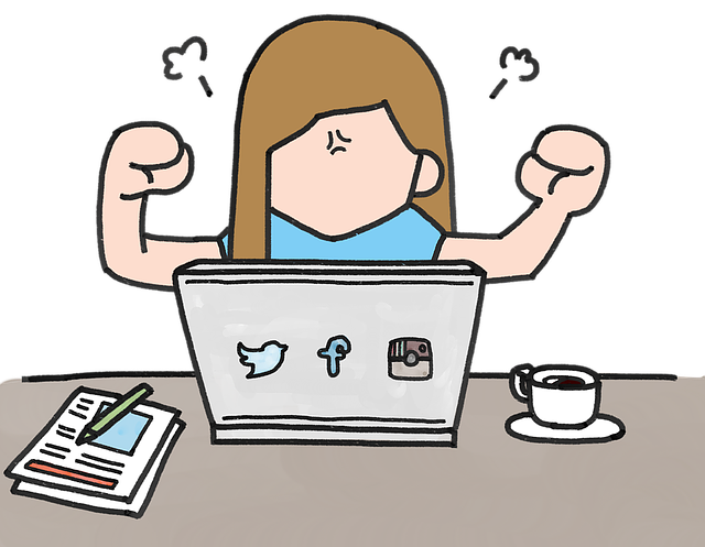 malovaná holčička a sociální sítě